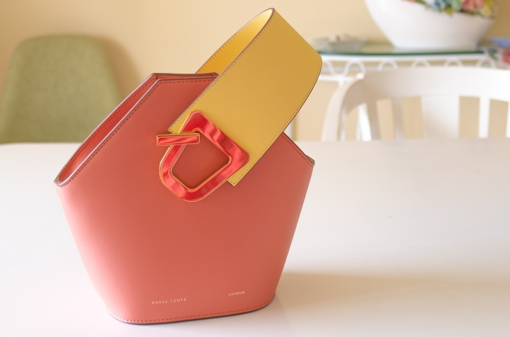 Review | Danse Lente Mini Johnny Bucket Bag in Peach and Lemon