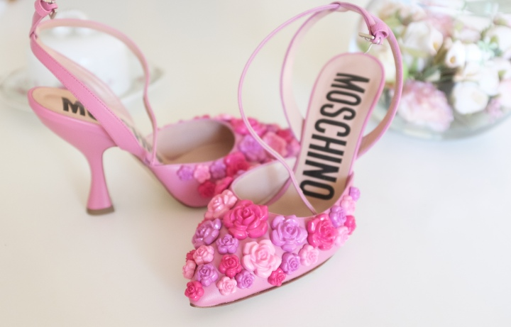 Shop & Tell: Moschino Pink Flower Pumps