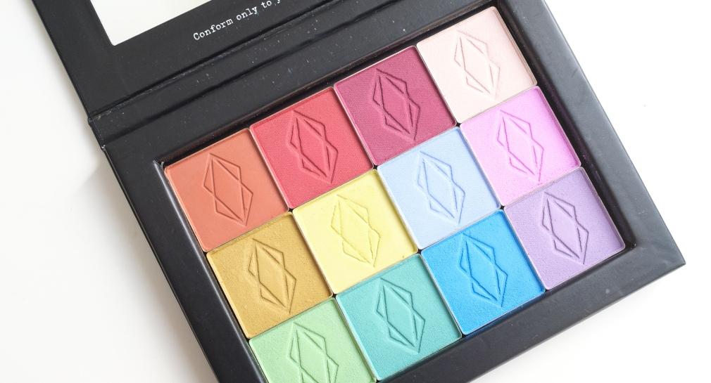 lethal cosmetics matte eyeshadows in palette